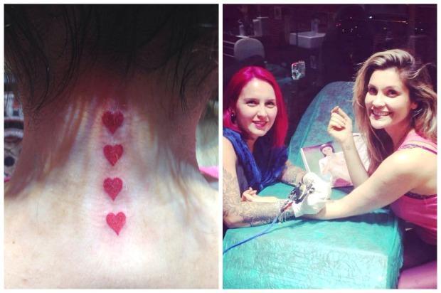 tatuagem com cor delicada feminina (Foto: MDeMulher)