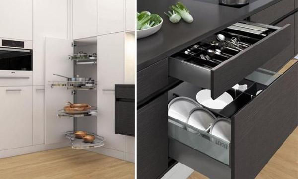 Móveis modernos facilitam a cozinha (Foto Divulgação: MdeMulher)