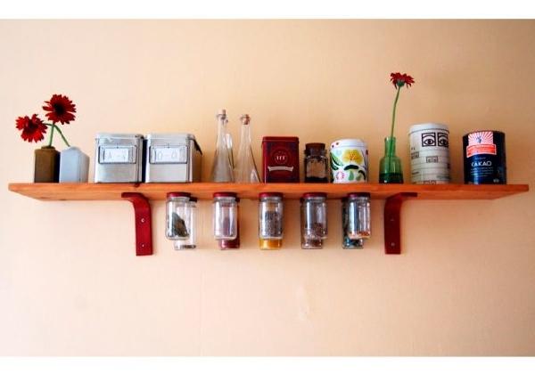 Prateleiras funcionais para cozinha pequena (Foto Divulgação: MdeMulher)