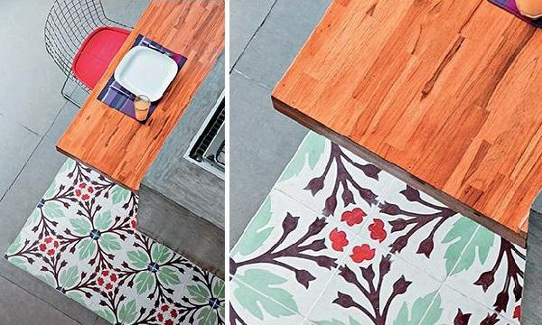 Cores, texturas e madeira na cozinha (Foto Divulgação: MdeMulher)