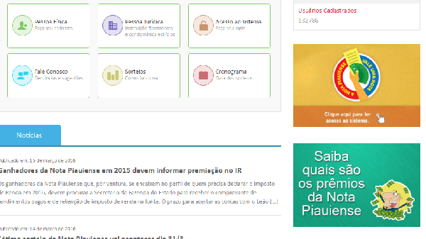 Todos os indivíduos cadastrados poderão participar dos sorteios (Foto Divulgação: Portal/Piauí)