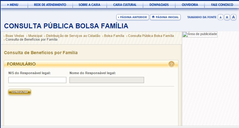 Faça a sua consulta por meio do site da Previdência Social (Foto: Site Previdência Social)