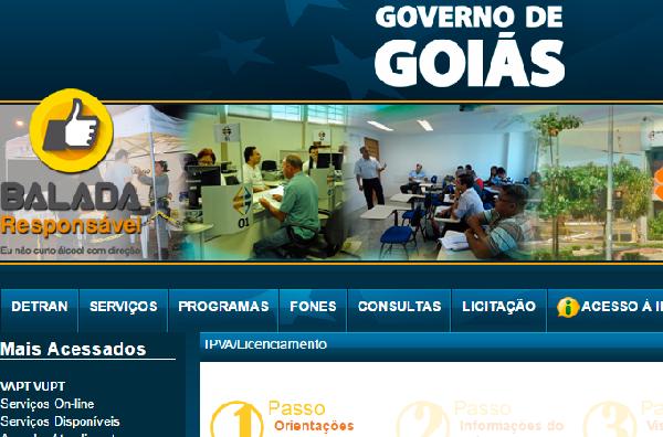Detran Goiás serviços online (Foto Divulgação: Detran)