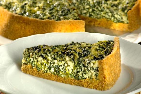 Torta de ricota com espinafre. (Foto Ilustrativa)
