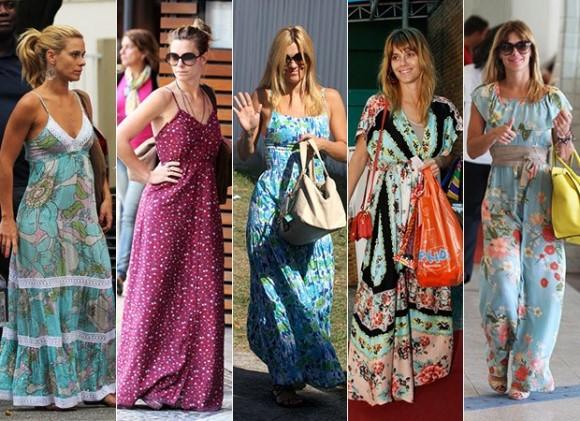Looks com vestidos estampados. (Foto Ilustrativa)