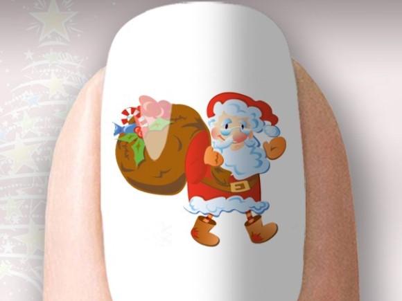 Adesivo de unha natalino da Unhas Loly. (Foto Ilustrativa)