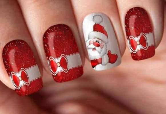Adesivos de unhas para Natal 2015.