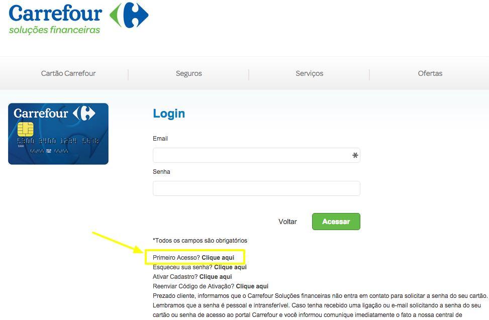 A fatura do cartão Carrefour é bem simples de ser acessada (Foto: Divulgação)