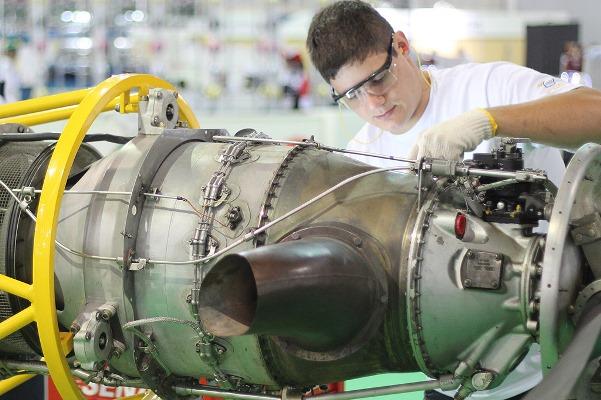 Manutenção de aeronaves é uma opção de curso. (Foto Ilustrativa)