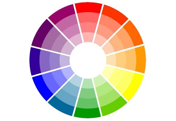 O círculo cromático ajuda a acertar nas combinações. Observe as cores que se opõem. (Foto Ilustrativa)
