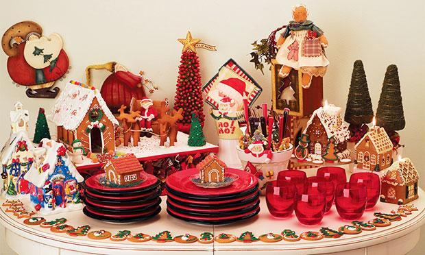 Pratos vermelhos para o Natal (Foto: Mdemulher)