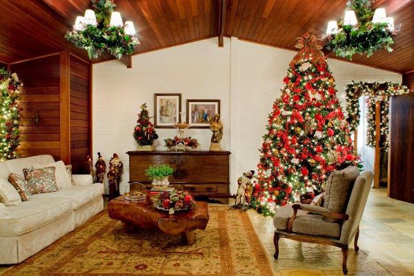 Decora o de natal para sala fotos mundodastribos for Decorar piso navidad