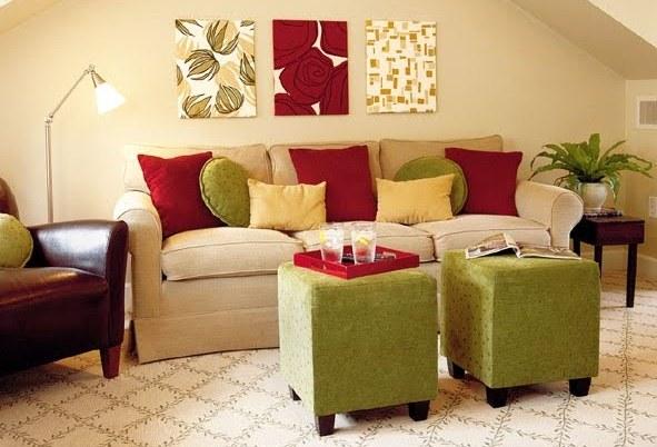 Sala clara com o jogo de cores (Foto: Divulgação)