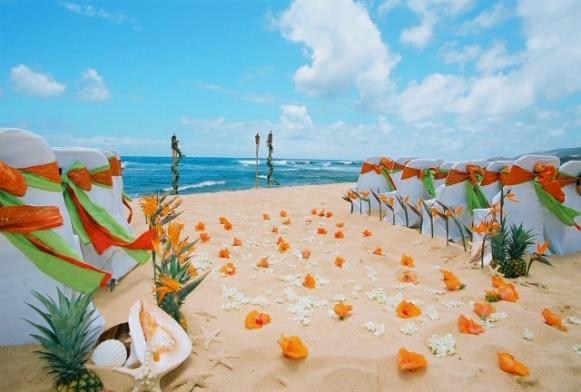 Flores coloridas enfeitam a areia. (Foto: Reprodução/ salst)