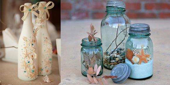 Enfeites DIY para casamento na praia. (Foto: Reprodução/ Hitched)