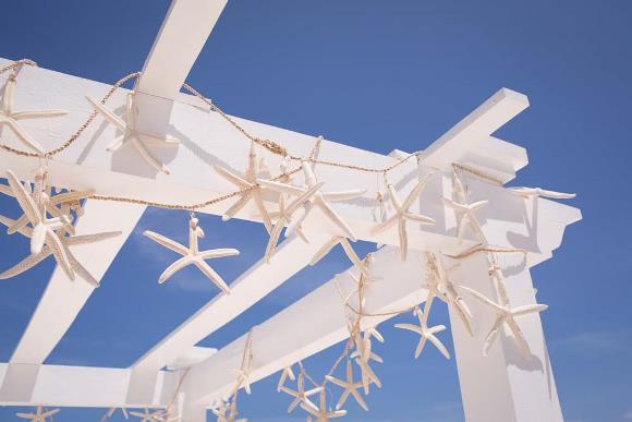Enfeites de estrelas do mar. (Foto: Reprodução/ hitched)