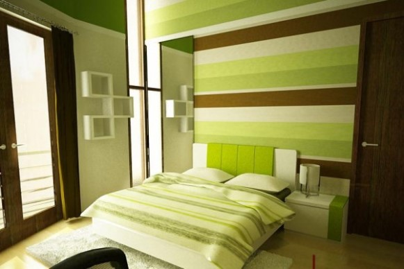 Decoração verde com castanho, como combinar as cores. (Foto Ilustrativa)