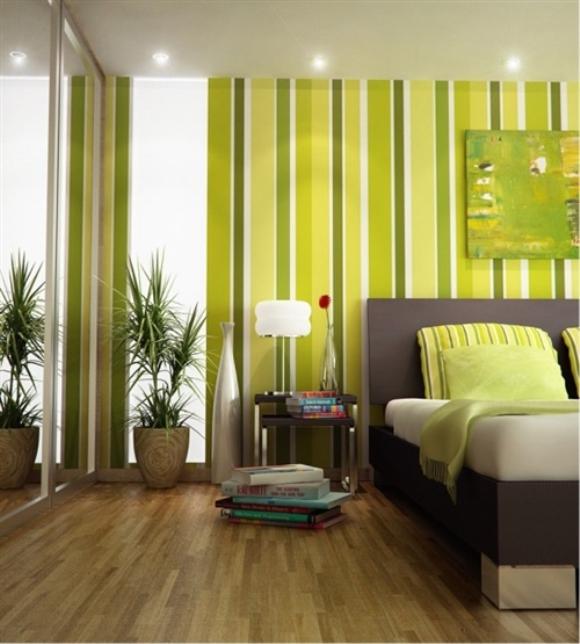 Decoração verde com castanho, como combinar as cores 5
