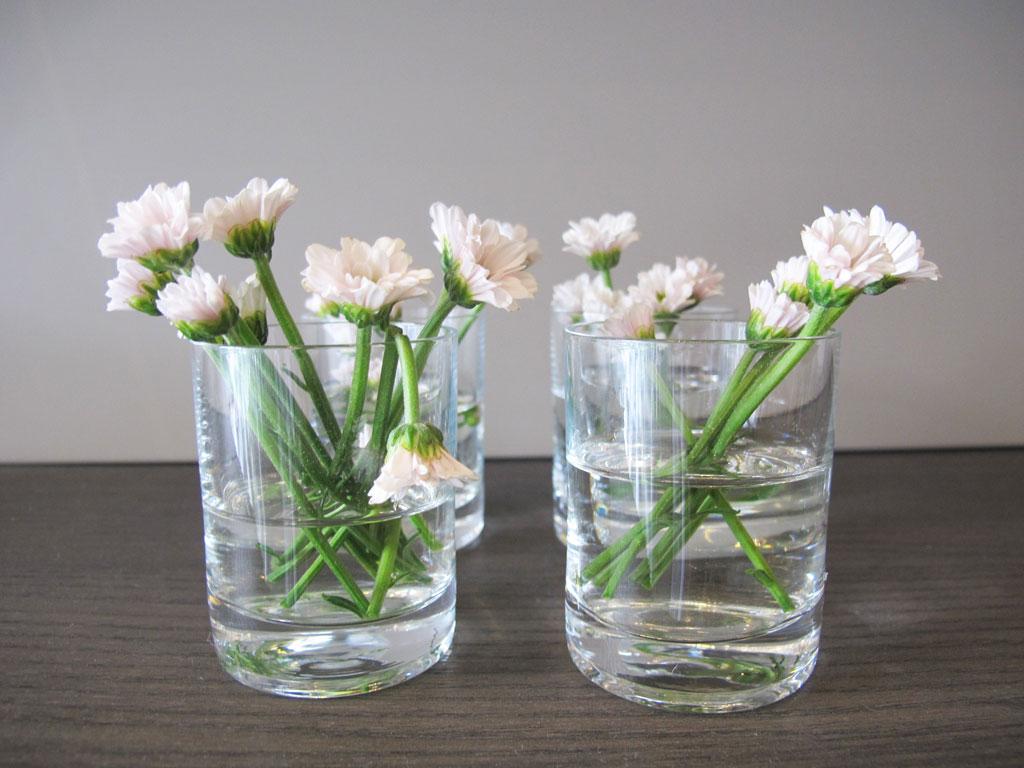 Vidros com flores para a sua casa (Foto: Casa Abril)