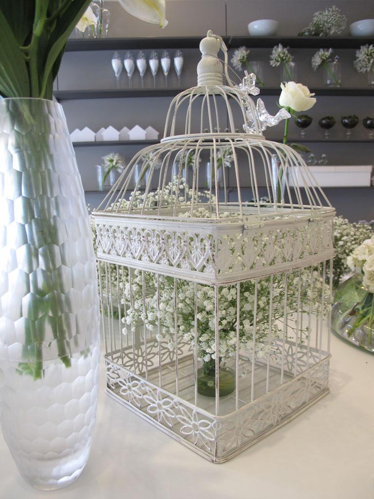 Gaiola com flores para o Réveillon (Foto: Casa Abril)