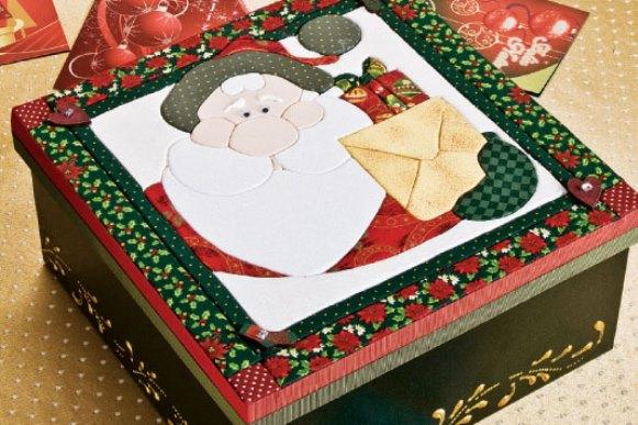 Caixa decorada de natal. (Foto Ilustrativa)