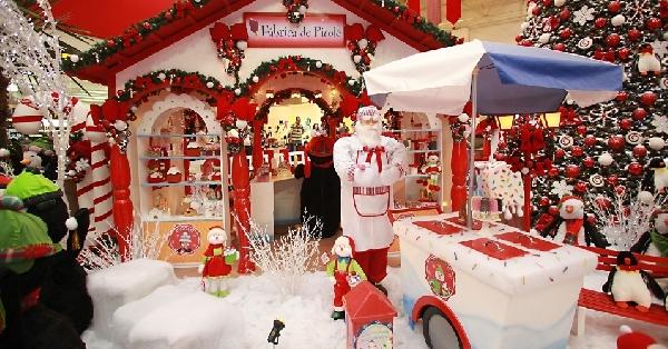 Fábrica de sorvetes dos pinguins (Foto: Divulgação Shopping Center Norte)