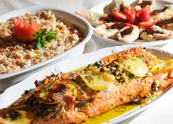 Prato com salmão