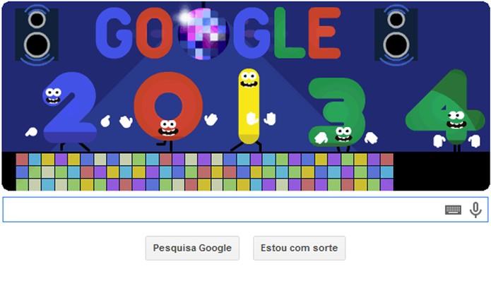 Véspera de Réveillon é tema de Doodle do Google (Foto: Divulgação)