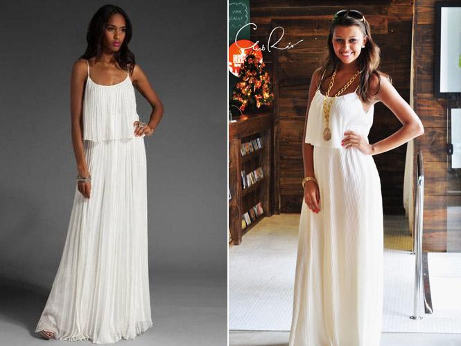 00c0375d2 Os vestidos brancos vão dos mais simples aos mais sofisticados, depende do  local onde será comemorada a virada do ano.