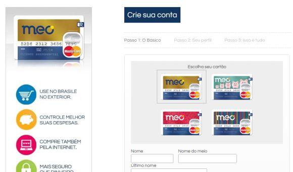 O Meo Cartão Dinheiro é uma das várias opções de cartões de crédito virtuais (Foto Ilustrativa)