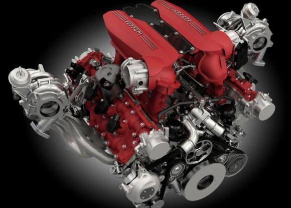 O poderoso motor V8 turbo rende 670 cv de potência (Foto: Reprodução Ferrari)