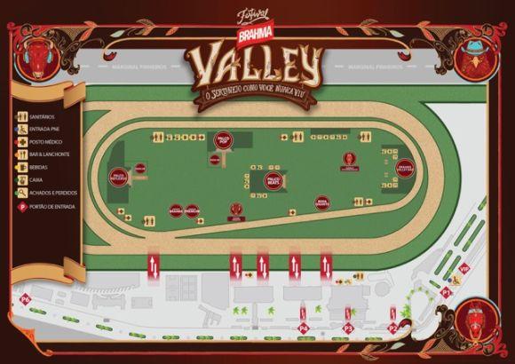 Mapa do evento que acontece no Jockey Club, na capital paulista (Foto Ilustrativa)