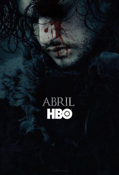 Game of Thrones: Jon Snow em pôster da sexta temporada (Foto: Divulgação HBO)