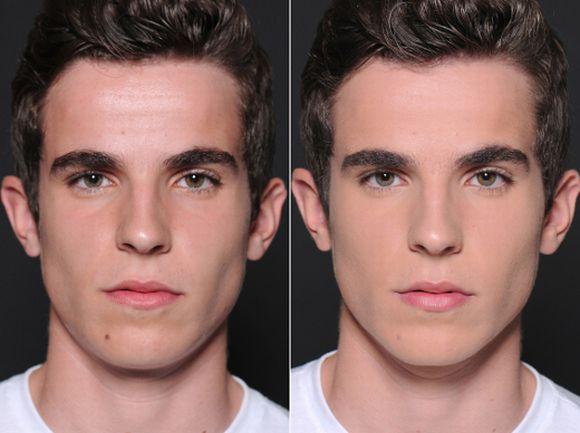 Veja a diferença, ao final de um rosto sem e o outro com maquiagem (Foto Ilustrativa)