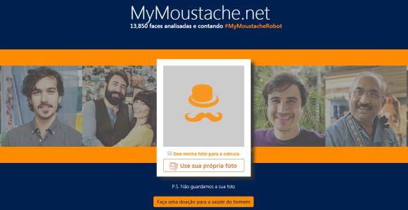 O site permite que o usuário faça o upload de suas fotos para medir o tamanho do bigode (Foto Ilustrativa)