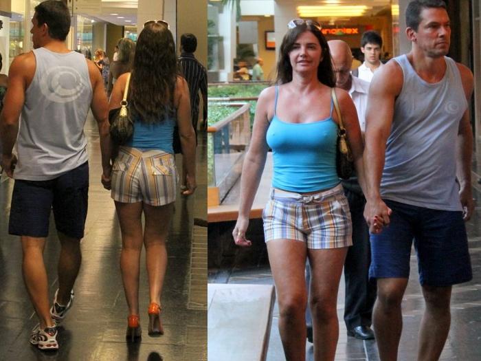 Luma de Oliveira durante passeio no shopping (Foto: R7)