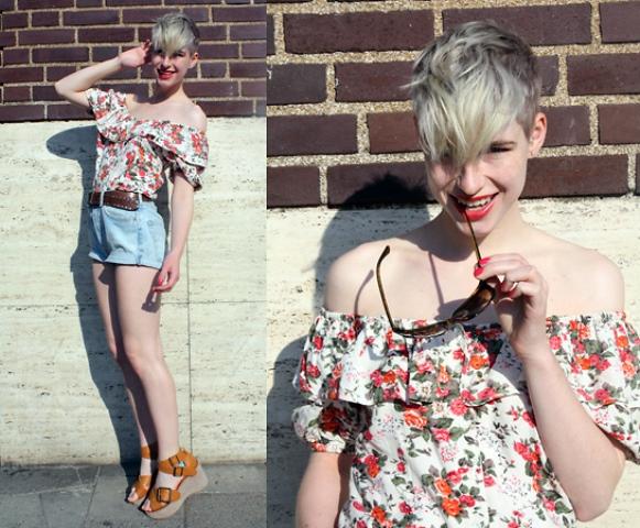 Blusa ciganinha com estampa floral. (Foto Ilustrativa)