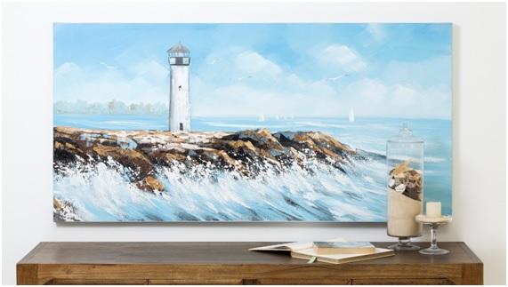 Decoração de Casa de Praia pode ter uma versão linda do mar (Foto: Westwing)