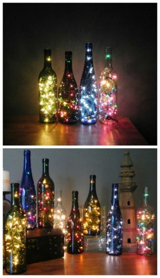 Garrafas podem te ajudar na decoração de Natal. (Foto: Mdemulher)