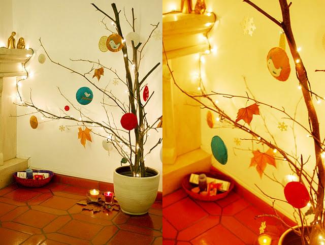 Galhos secos podem ser reaproveitados no seu Natal (Foto: Casa Abril)