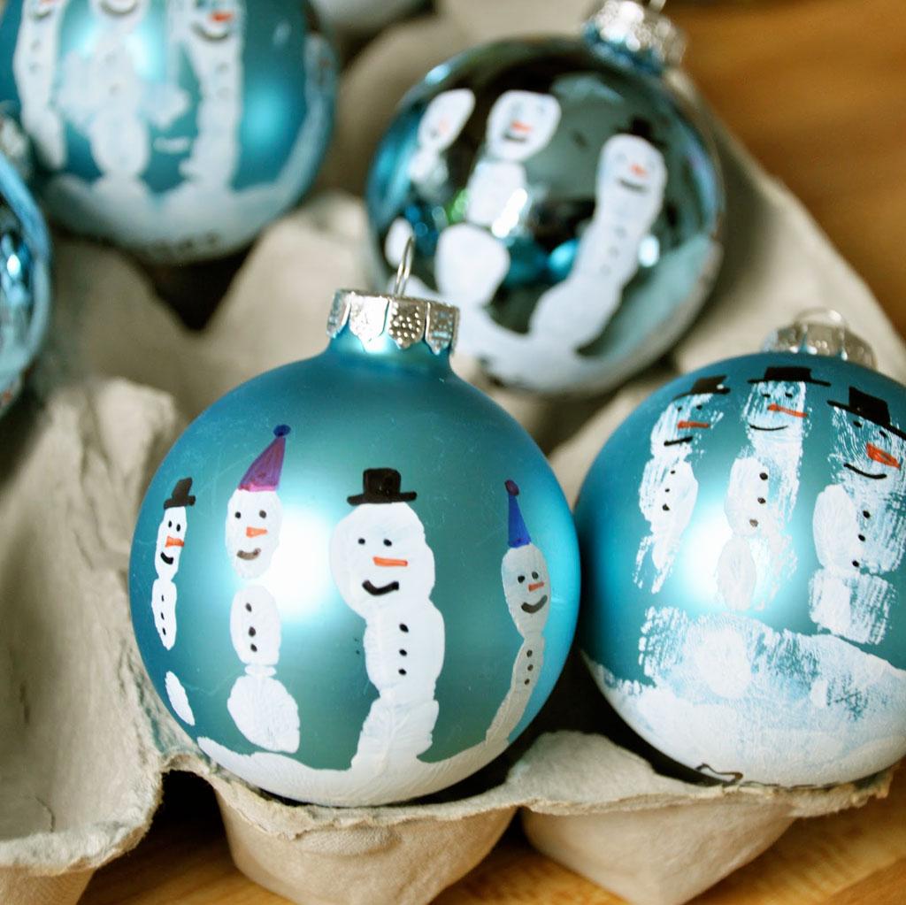 Bolas de Natal decoradas (Foto: Casa Abril)