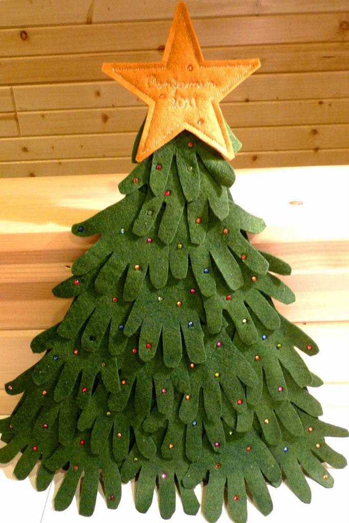 Árvore de Natal com reciclado (Foto: Casa Abril)