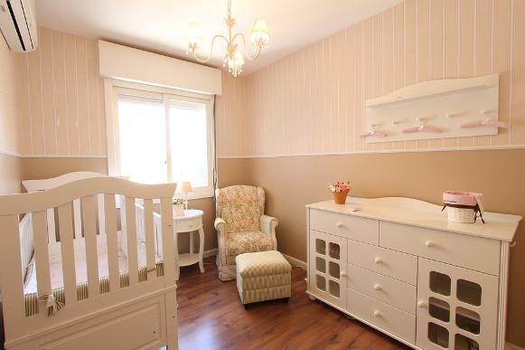 Decoração Provençal para quarto de bebê. (Foto Ilustrativa)