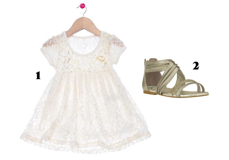 Vestido branco para a sua princesa nesse Ano Novo (Foto: MdeMulher)