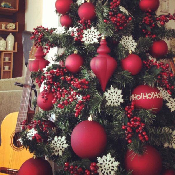decoracao arvore de natal vermelha:Enfeites de natal para decorar sem gastar muito (Foto: Casa Abril)