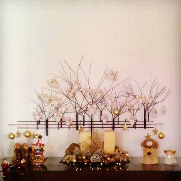 A pintura na parede de Natal para enfeitar sua casa (Foto: Casa Abril)