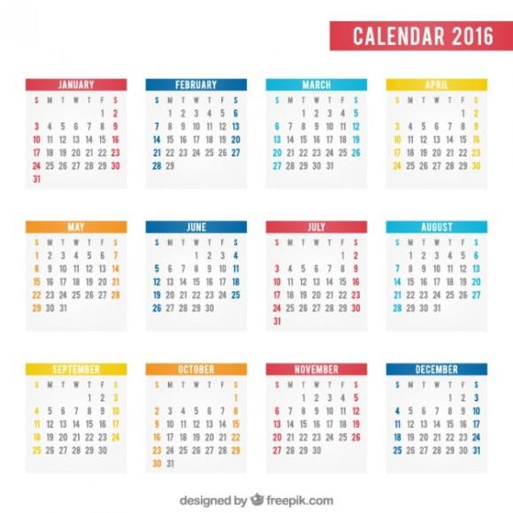 カレンダー カレンダー ワード 2015 : Calendario 2016 Calendar