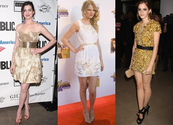 Para quem quiser e gostar, que tal um look mais dourado? (Foto: Site Abril)