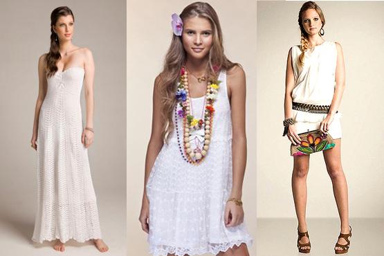 Vestidos e modelos mais curtos, indicados para a praia (Site Abril)