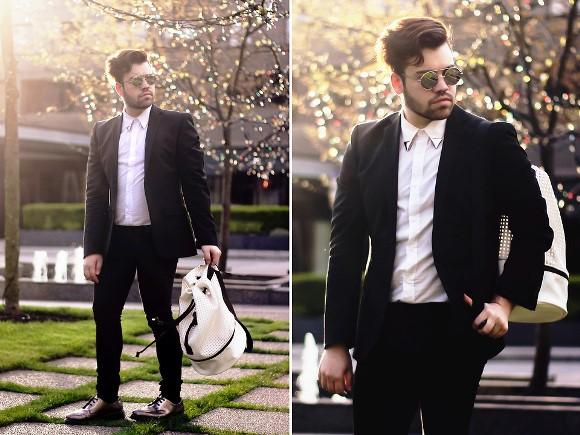 O blazer preto é uma peça-coringa no guarda-roupa. (Foto: Reprodução/Fernando Cysneiros)